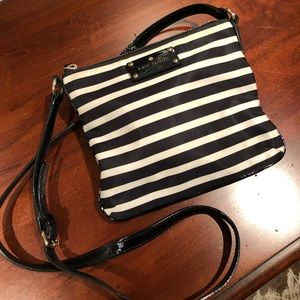 Kate Spade Black and White Crossbody Bag